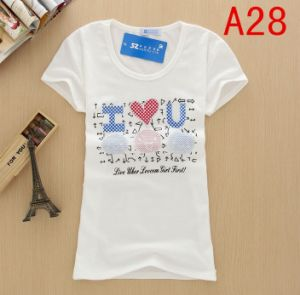 Good Quality Heat Transfer Cheap Price Men Stock T-Shirt pictures & photos