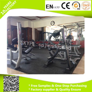 Easy Install Square Shape Rubber Flooring Mats in Fitness Center Weight Area Use pictures & photos