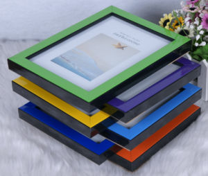Plastic Back Open Photo Frame (BH-20) pictures & photos