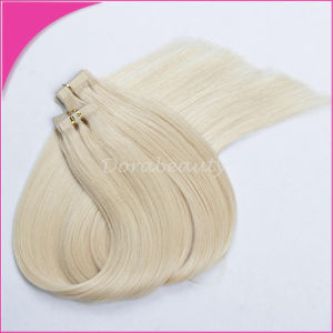 Virgin Remy Brazilian Human Hair Straight Weft PU Tape Hair Extensions pictures & photos