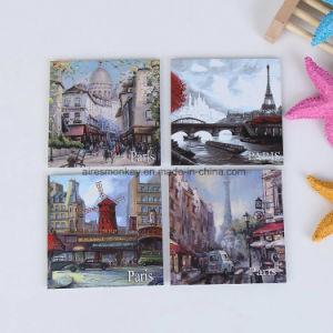 6X6cm Customized Printed Tinplate Fridge Magnet /Custom Metal Fridge Magnets pictures & photos