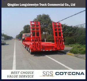 Top Quality 3-Axle Lowbed Semi Trailer Low Bed Trailer for Africa pictures & photos