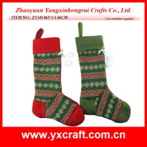 Christmas Decoration (ZY14Y467-1-2) Xmas Sock Decoration Gift Ornament pictures & photos