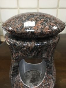 Funeral Products for Natural Granite, Marble, Onxy Memorial Lamp with Glass pictures & photos