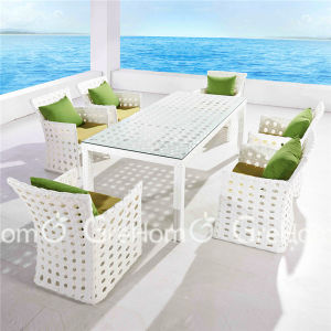 White Outdoor PE Wicker Sectional Furniture
