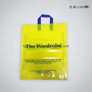 PE Plastic Shopping Bag for Packaging with Die Cut Handle pictures & photos