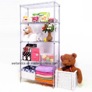 Assembly Metal Furniture Adjustable Chrome Wire Shelving Rack pictures & photos