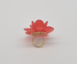 Big Glory Acrylic Flower Fashion Adjustable Ring (XRG12461) pictures & photos