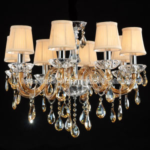 Brown K9 Crystal Chandelier with Fabric Shades (S-8008-8) pictures & photos