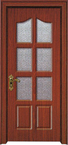 Wooden Door with Glass (WX-PW-174) pictures & photos