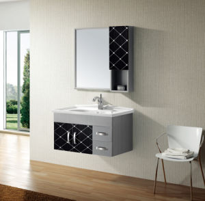 Stainless Steel Bathroom Furniture with Mirror Cabinet (T-9456B) pictures & photos
