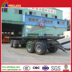 4 Axles Truck Full Flatbed Drawbar Trailer for Sale pictures & photos