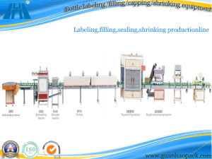 Chemical Product Labeling, Filling, Sealing Production line