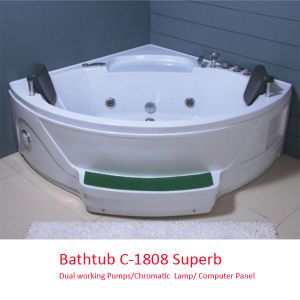 Two Working Pumps Jacuzzi Bathtub (C-1808) Superb pictures & photos