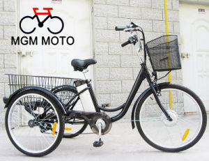 Three Wheels Electric Bike 24′ Tire for Adults with En15194 pictures & photos