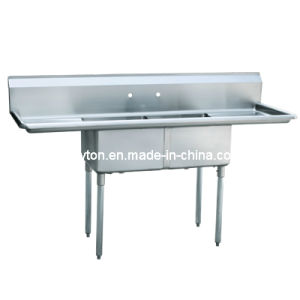 Two Compartment Commercal Sink (S2-242414-24R) pictures & photos