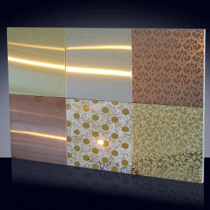 CR304 Decorative Series Etching Finish Stainless Steel Sheet pictures & photos