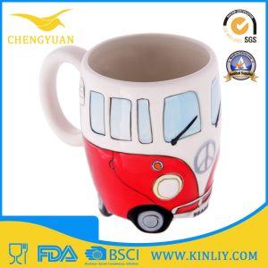 Novelty Ceramic Funny Design Bus Designed Tea Cup Coffee Mug pictures & photos