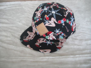 Fabric 5 Panel Camper Plaid Hat Sports Cap pictures & photos