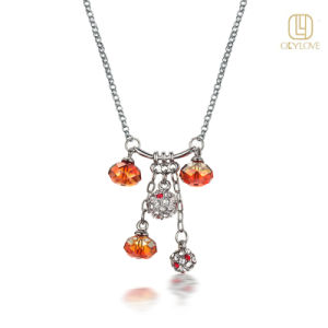 Crystal Beads Jewelry Necklace (OLYN033)