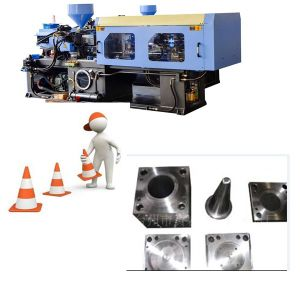 CE Certified PVC Traffic Cone Injection Mouldling Machine pictures & photos