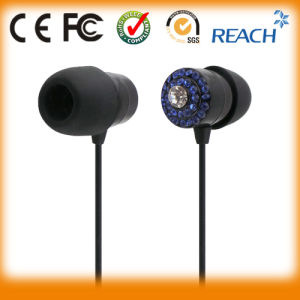 Metal Stereo Earphone Earpiece with Crystal pictures & photos
