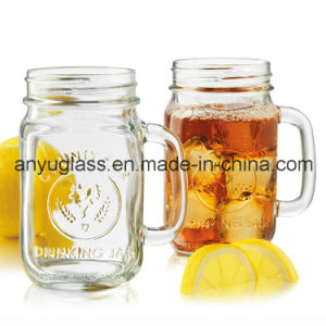 Glass Mug/Cup for Drinking with Lid, Mason Jar pictures & photos