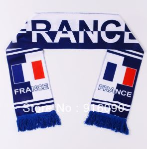 Cheap Polyester Satin Printing Football Scarf pictures & photos