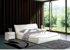 Newest Model Furniture Bedroom Leather Bed 670#