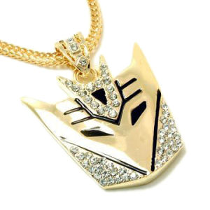 Gold Transformers Decepticons Bling Pendant Necklace W-Nw632