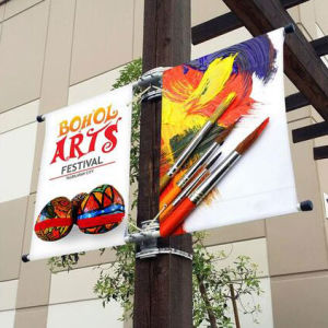Outdoor Advertising Image Media Street Light Pole Banner Bracket pictures & photos