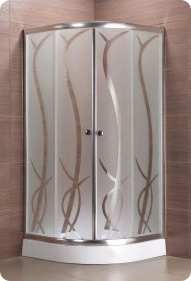 Spring Acid Etched Glass Shower Enclosure (S-9806-SP) pictures & photos