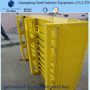 Heavy Duty Storage Container Steel Feet Pallet pictures & photos