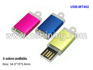 Mini USB Drive / 6 Colors Available (USB-MT402)