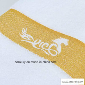 Hotel Textile Terry Towel with Color Woven Dobby and Logo pictures & photos