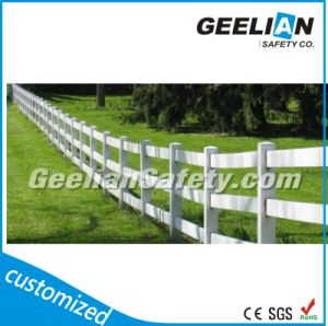 White Color Use Plastic Rural Post and Rail Fence pictures & photos