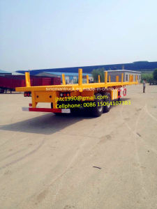 Two Axle 40ft Flatbed Semi Trailer with Side Wall