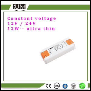 12W Constant Voltage 12V 24V LED Power Supply, 12V Adapter, 24V Transformer, 12W DC12V DC24V Ultra Thin LED Driver pictures & photos