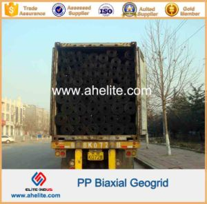 PP Biaxial Geogrid with Aperture Dimensions 34mmx35mm pictures & photos