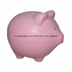 PU Foam Fat Pig Design Antistress Toy Promotional Stress Ball