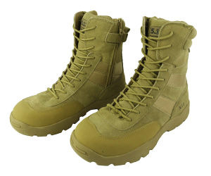 5.11 Tactical Action Leather and 900d Nylon Boots Tan (WS20295) pictures & photos