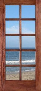 Modern Design Solid Wood Door with Glass Doors Prices pictures & photos