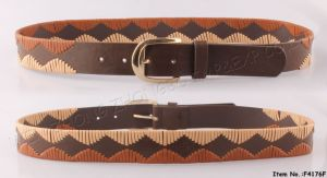 2017 Women Fashion Leather Belt with SGS (F4176F) pictures & photos