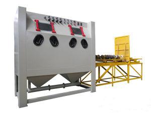 Double Work Station Manual Sandblasting Machine pictures & photos