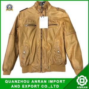 PU Men′s Single PU Garment Dying Jacket