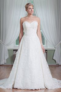 Hot Selling Sexy a-Line Sweetheart Beaded White Organza Ruffled High-Low Wedding Dress (FL10001)
