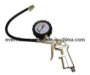 Air Line Tyre Inflator Hose & Psi Pressure Dial Gauge Car Bike Motorcycle pictures & photos