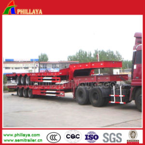 3 Axles Heavy Duty Semi Lowbed Trailer pictures & photos