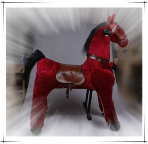 Red Horse Ride Toy Animal Ride on Horse Plush Toy Electrical Type pictures & photos