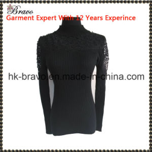 2015 Winter Hight Quantity Fashion Ladies Turtle Neck Long Sleeve Net Stith Knitted Swester (BR216)